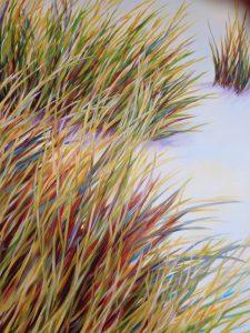 Herbes Dunes Wild Multicolore Art Sophie Labayle Painting