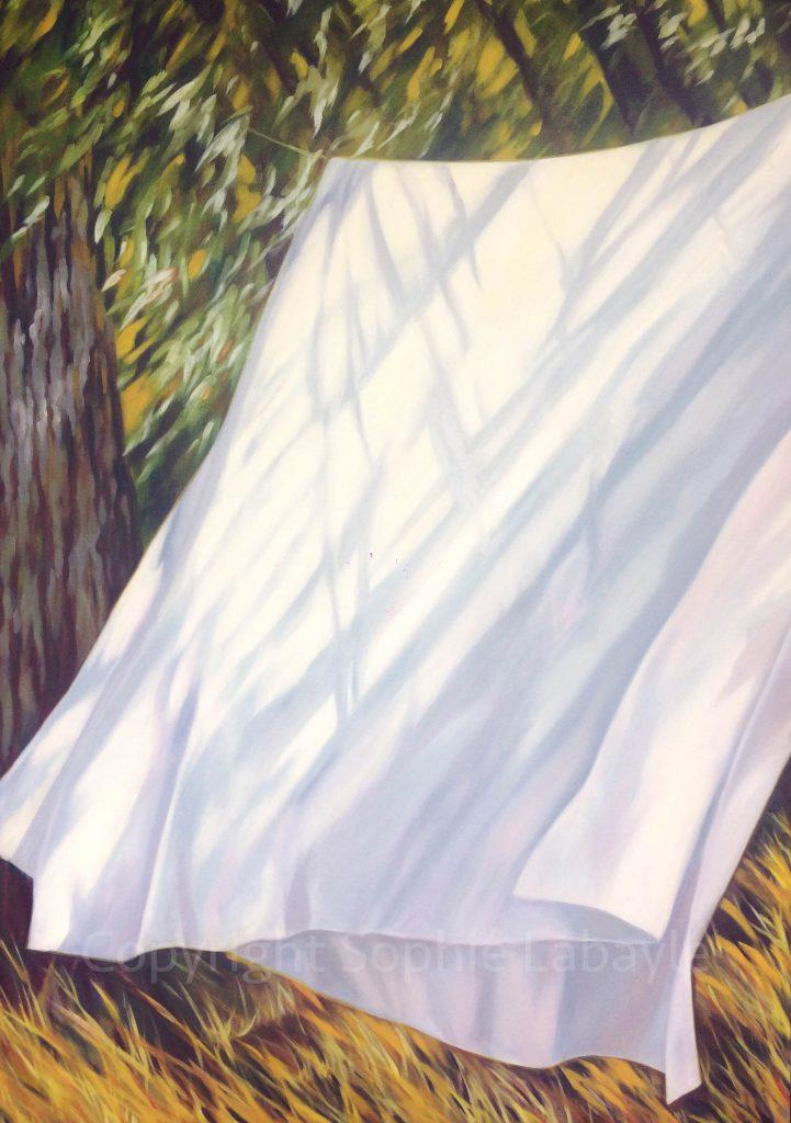 Art Oil painting garden French artist Sophie Labayle