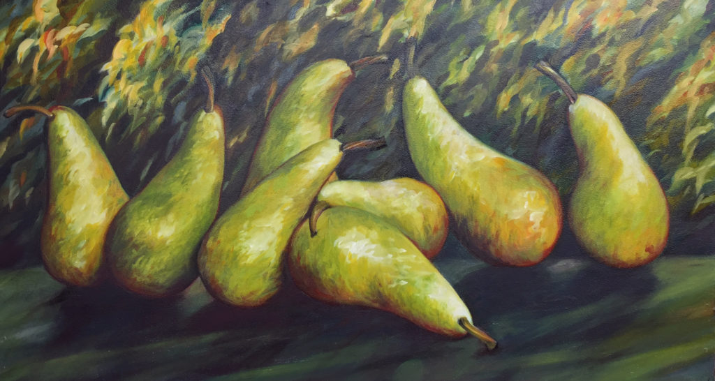 Pears Garden sophie labayle art nature paintings
